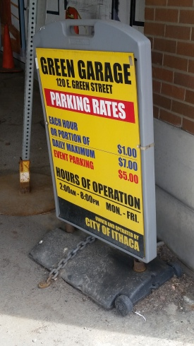 Pay rates sign green street