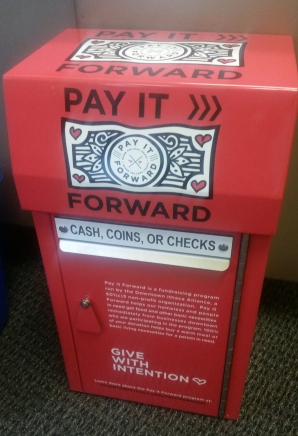 Pay It Forward donation box
